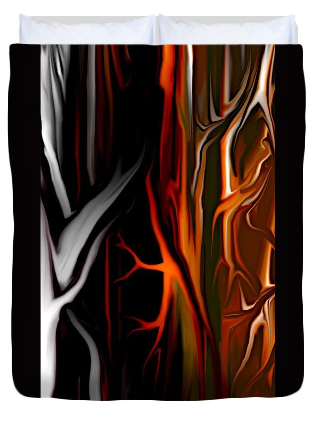 Abstract Digital Painting Duvet Cover featuring the digital art Haunted by David Lane