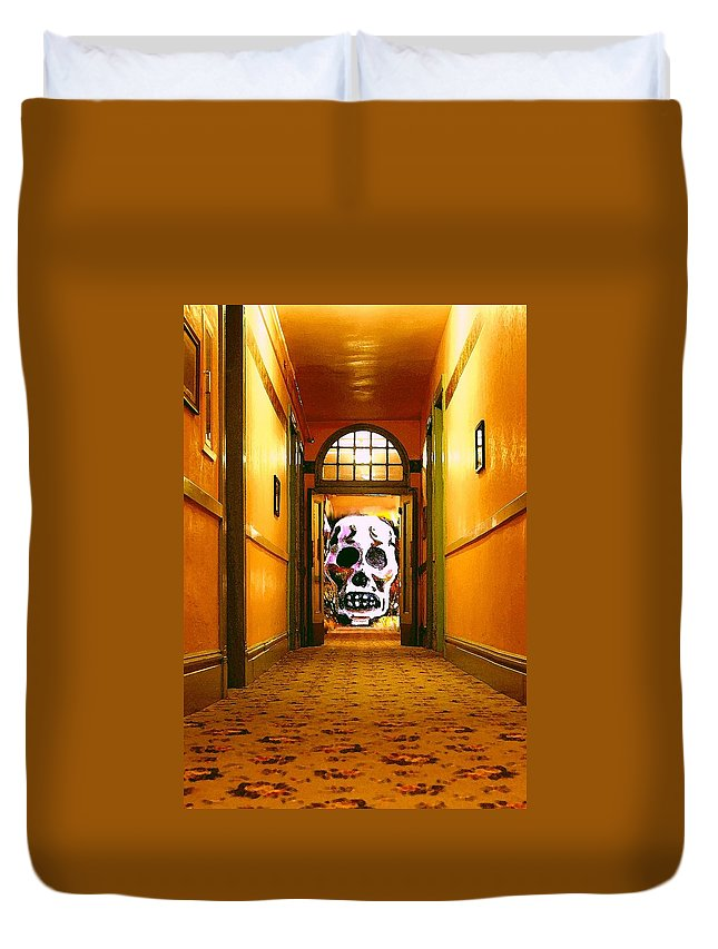 Haunted Duvet Cover featuring the photograph Haunted Hallway by Nelson Strong