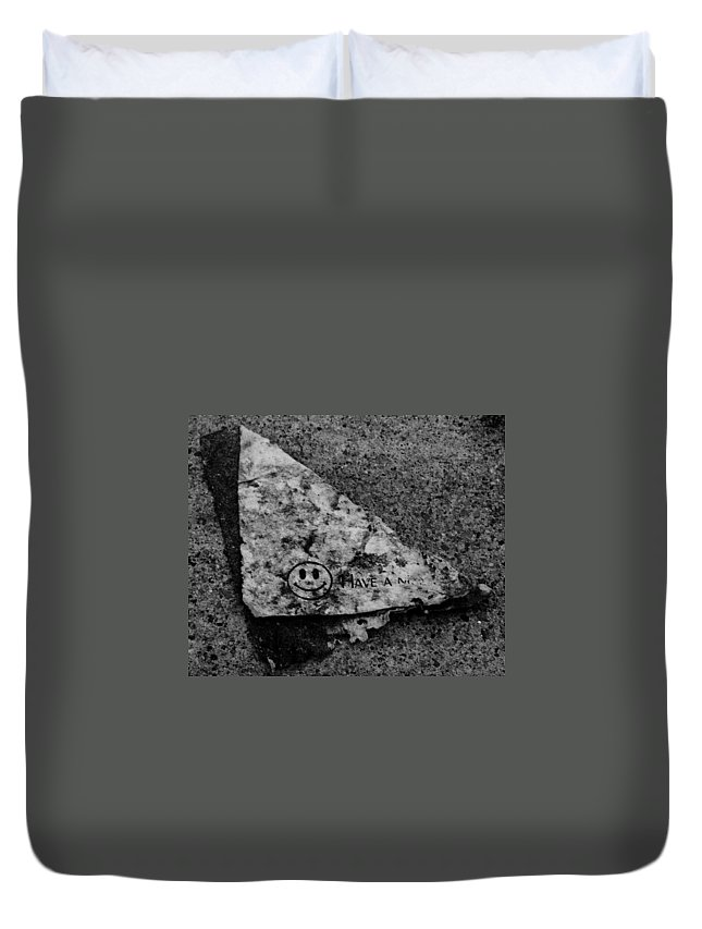 Debris Duvet Cover featuring the photograph Have A Nice Day by Angus Hooper Iii