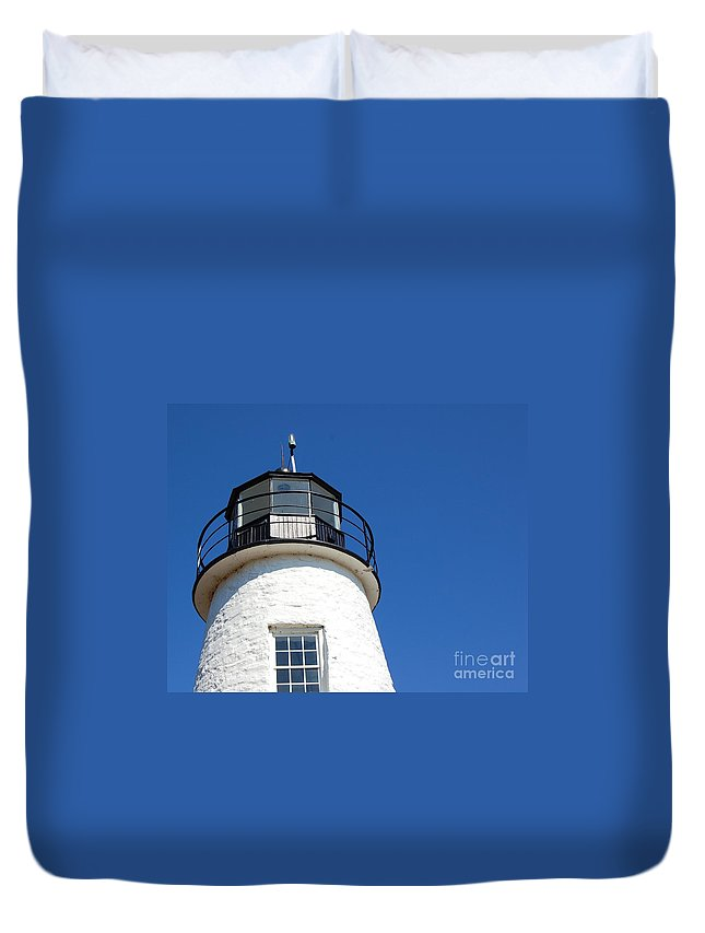 Lighthouse Duvet Cover featuring the photograph Havre De Grace Lighthouse 2 by Debbi Granruth