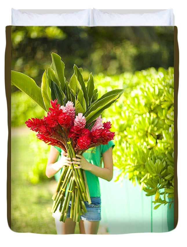 Afternoon Duvet Cover featuring the photograph Hawaii Lifestyle by Dana Edmunds - Printscapes