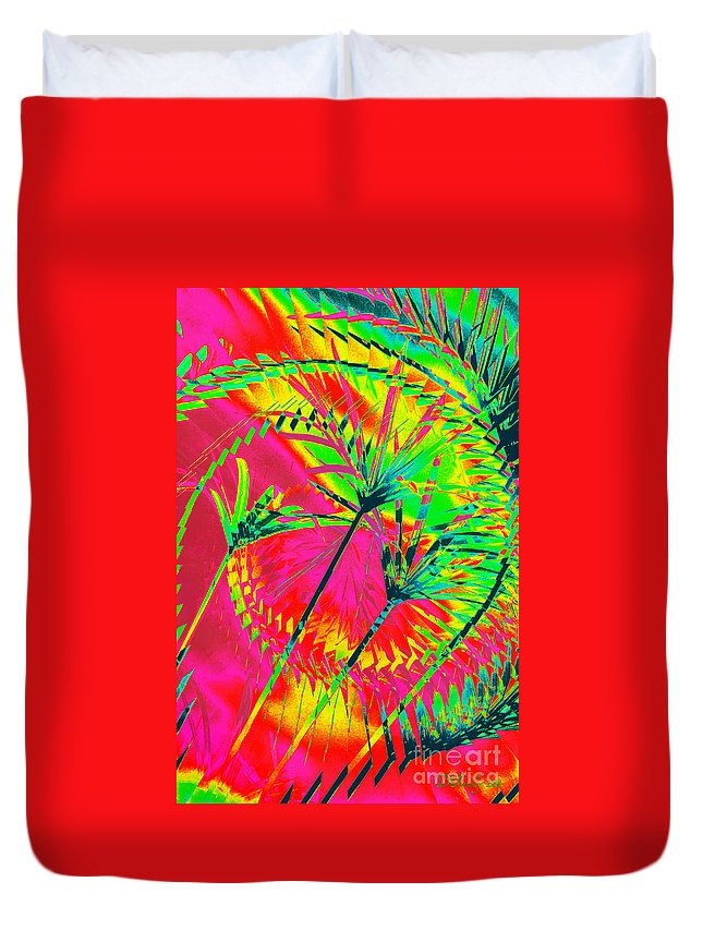 Greens Duvet Cover featuring the photograph Hawaii Three O by Donna Bentley