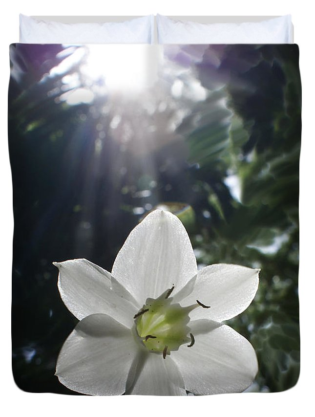 Hawaiian Duvet Cover featuring the photograph Hawaiian Flower by Heather Coen