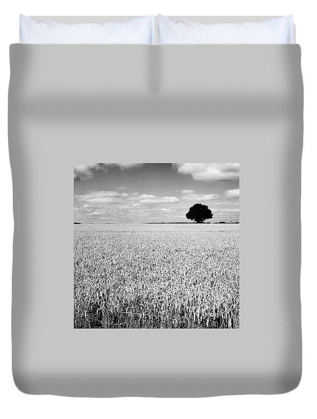 Duvet Cover featuring the photograph Hawksmoor by John Edwards