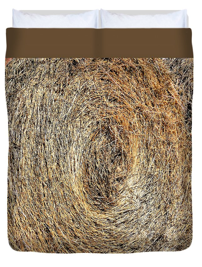 Hay Bay Rolls Duvet Cover featuring the painting Hay Bay Rolls 5 by Jeelan Clark