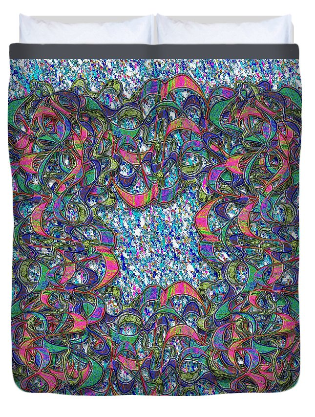 Abstract Duvet Cover featuring the digital art Hayat V5 by Mark Sellers