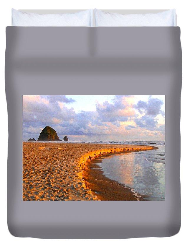 Haystack Heaven Duvet Cover featuring the digital art Haystack Heaven by Will Borden