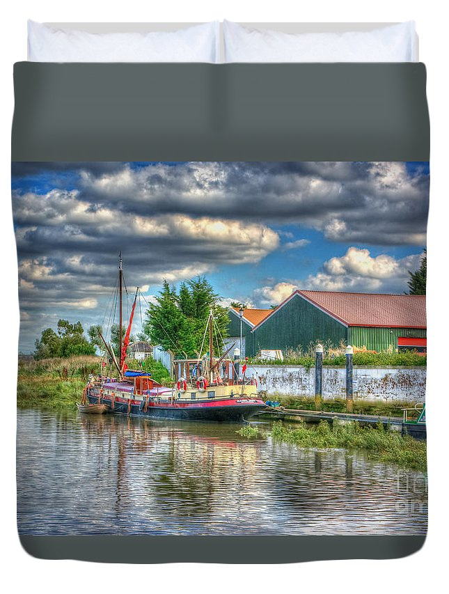 Hazel May Duvet Cover featuring the digital art Hazel May by Nigel Bangert
