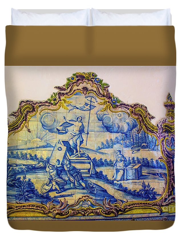 Setubal Duvet Cover featuring the photograph He Is Risen by Roberta Bragan