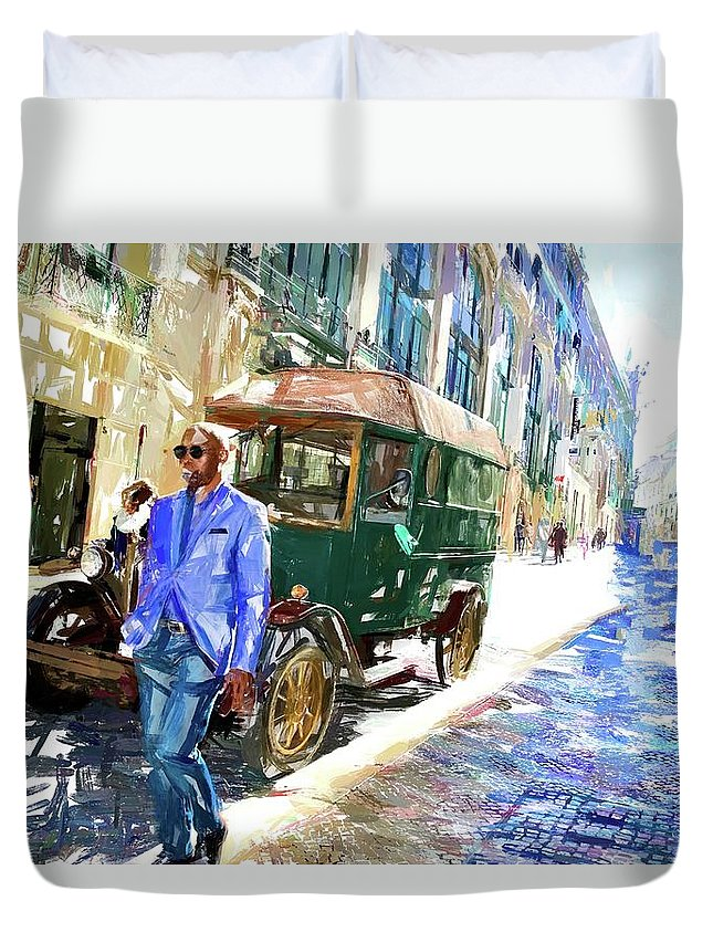 Alicegipsonphotographs Duvet Cover featuring the photograph He Walks by Alice Gipson
