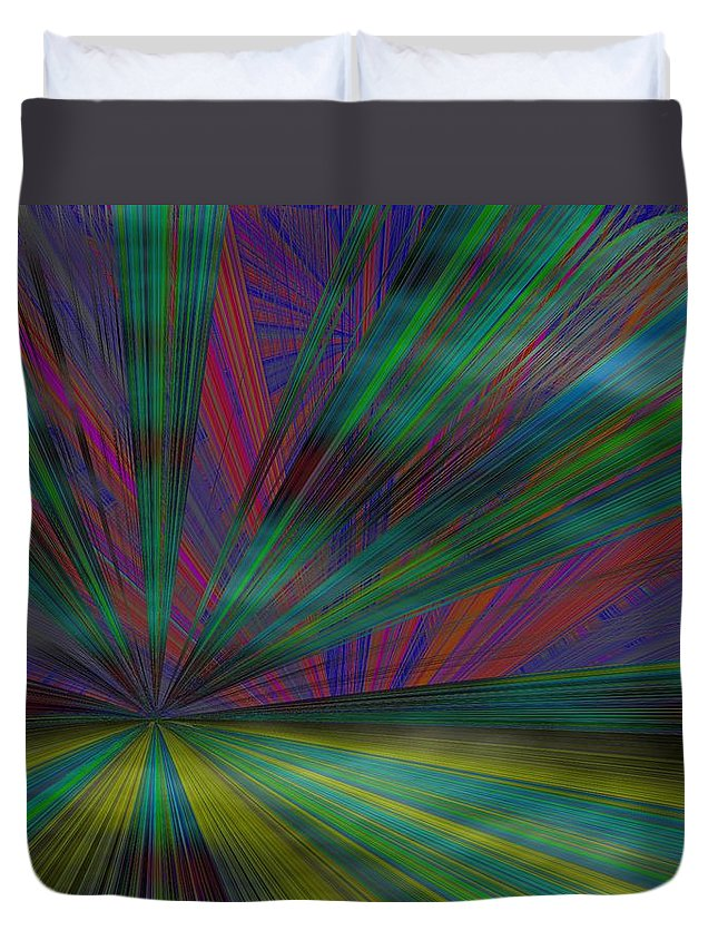 Abstract Duvet Cover featuring the digital art Head In The Clouds by Tim Allen