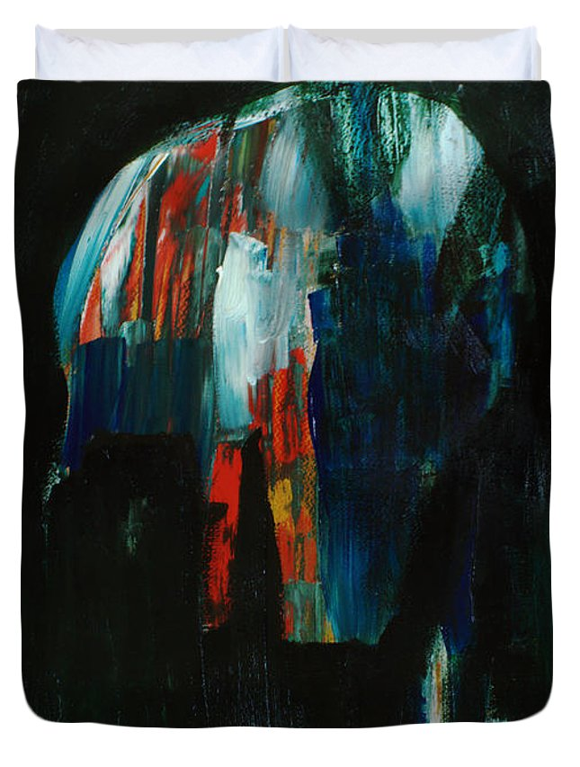 Abstract Art Duvet Cover featuring the painting Headspace by Uwe Hoche