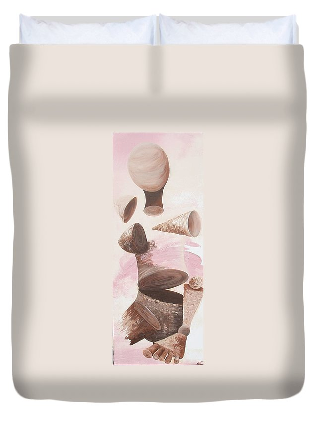 Healing Duvet Cover featuring the painting Healing Energy Collection by Catt Kyriacou