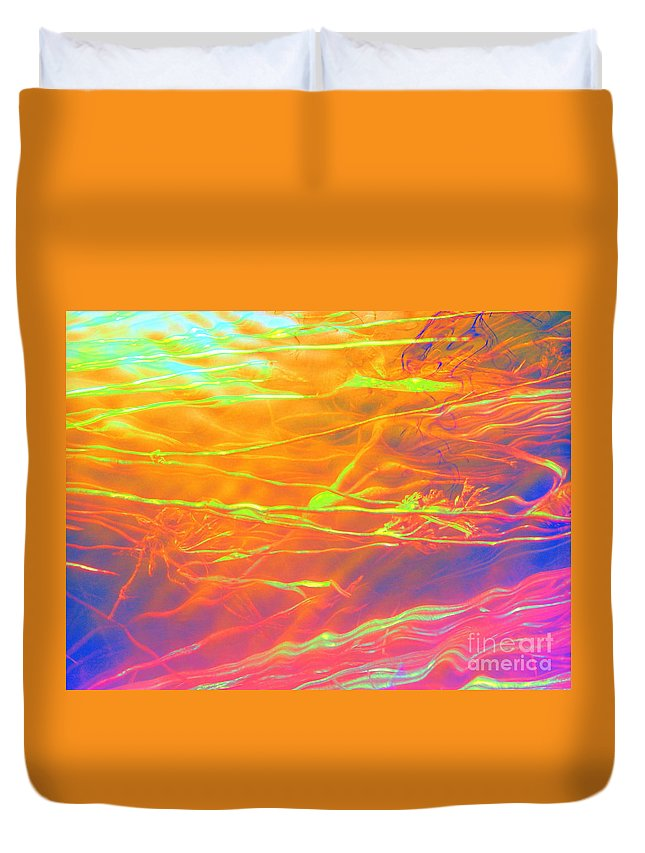 Abstract Duvet Cover featuring the photograph Healing Intervention by Sybil Staples
