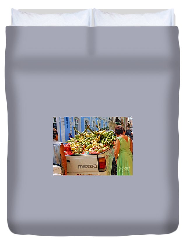 Fruit Duvet Cover featuring the photograph Healthy Fast Food by Debbi Granruth