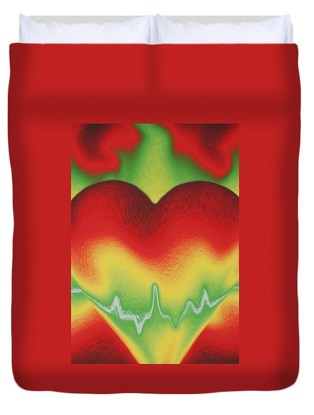 Heart Duvet Cover featuring the photograph Heart Beat by Rob Hans