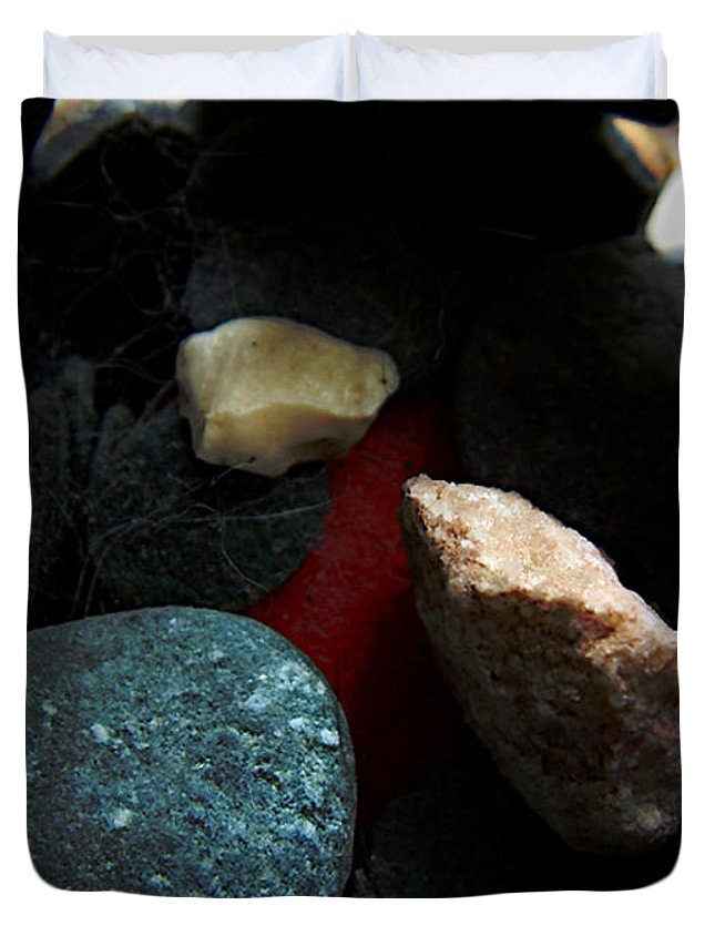 Rocks Duvet Cover featuring the photograph Heart Of Stone by RC DeWinter