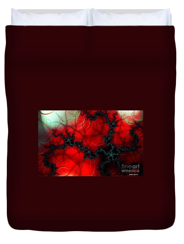 Clay Duvet Cover featuring the digital art Heart Pulse by Clayton Bruster