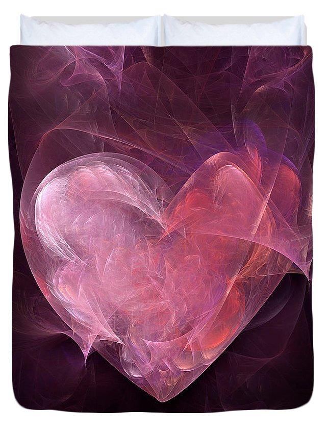 Heart Duvet Cover featuring the digital art Heart by William Brueske