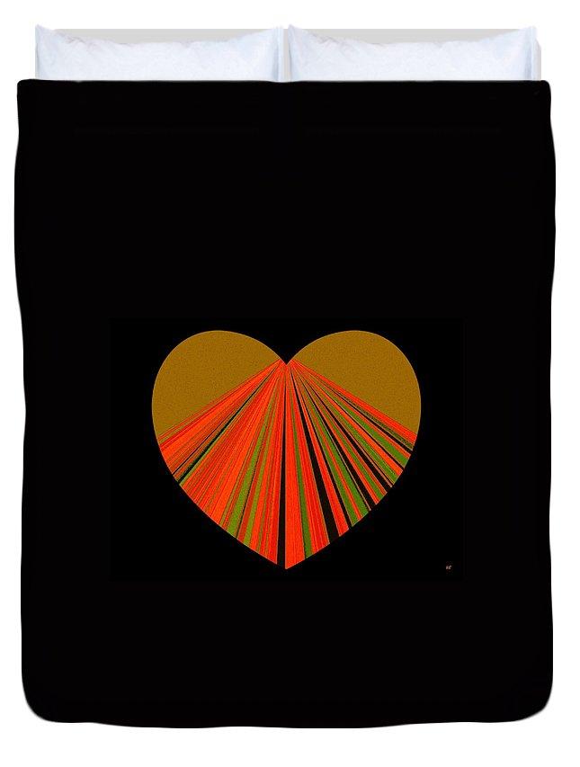 Heart Duvet Cover featuring the digital art Heartline 5 by Will Borden