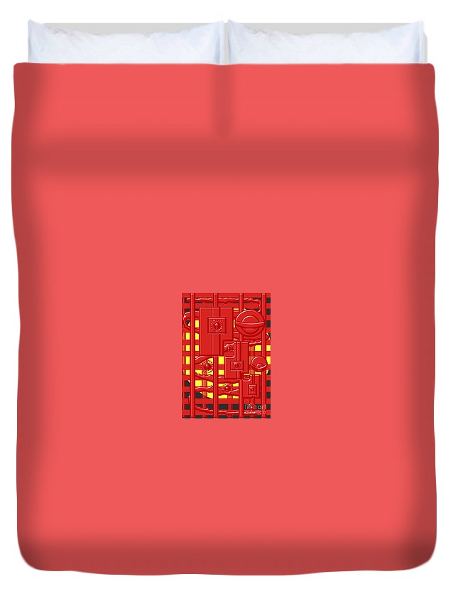 Abstract Duvet Cover featuring the digital art Heat Station by Jon Fennel