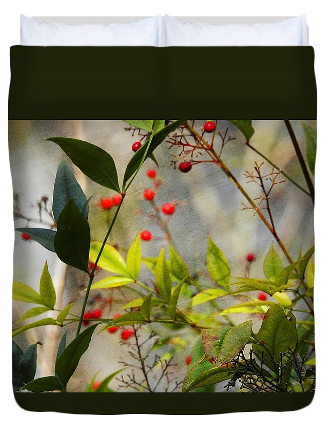Heavenly Bamboo Duvet Cover featuring the photograph Heavenly Bamboo by Sandra Peery