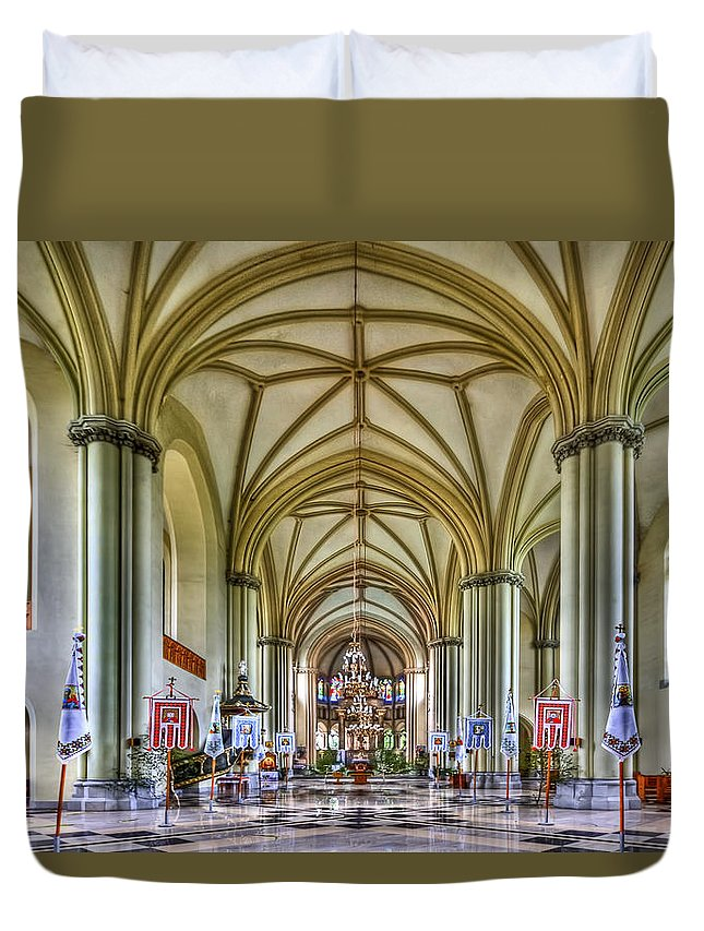 Church Duvet Cover featuring the photograph Heavenly by Evelina Kremsdorf