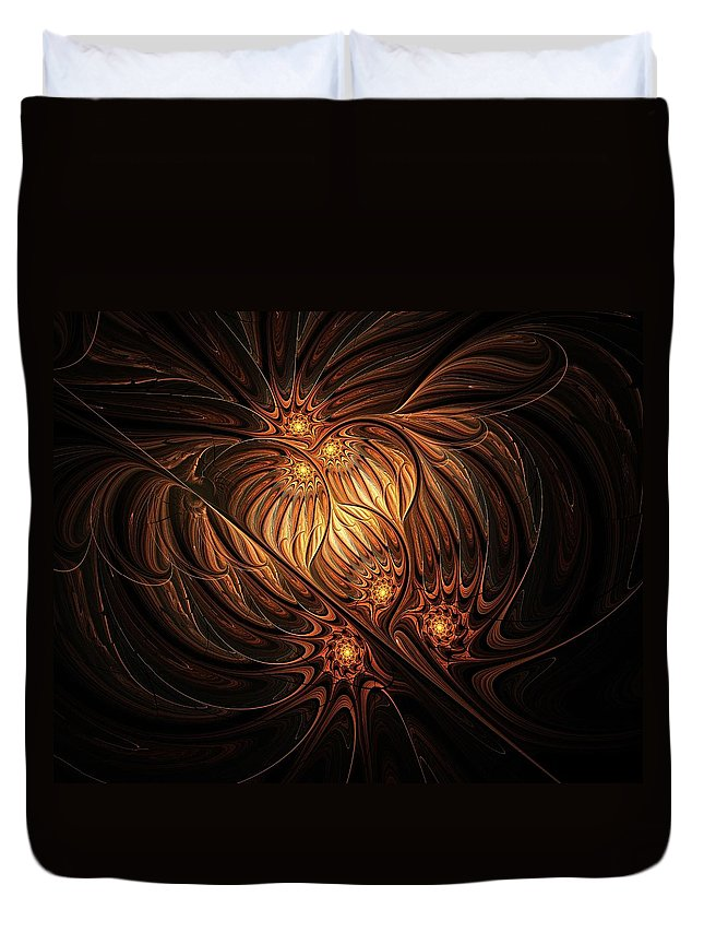Digital Art Duvet Cover featuring the digital art Heavenly Onion by Amanda Moore