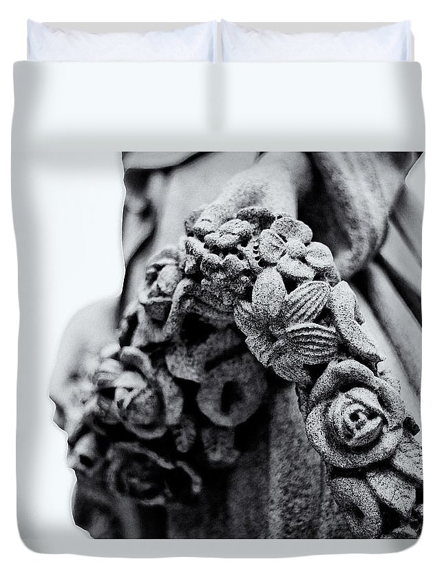 Cairn Duvet Cover featuring the photograph Heavens Hold by Scott Wyatt