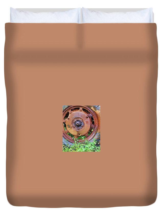 Rust Duvet Cover featuring the photograph Heavy Metal by Debbi Granruth