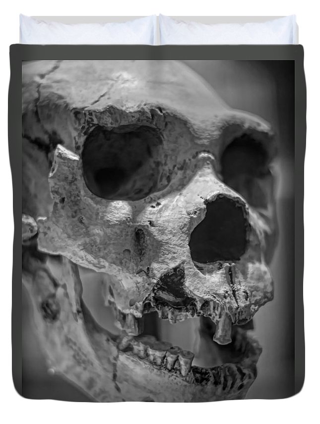 Homo Heidelbergensis Duvet Cover featuring the photograph Heidelbergensis by Heather Applegate