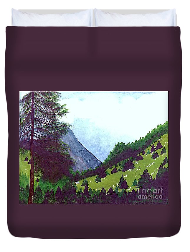 Original Painting Duvet Cover featuring the painting Heidi's Place by Patricia Griffin Brett