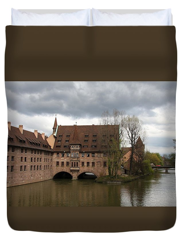 Asylum Duvet Cover featuring the photograph Heilig Geist Spital - Nuremberg by Christiane Schulze Art And Photography