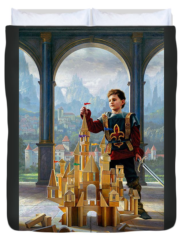 King Duvet Cover featuring the painting Heir To The Kingdom by Greg Olsen