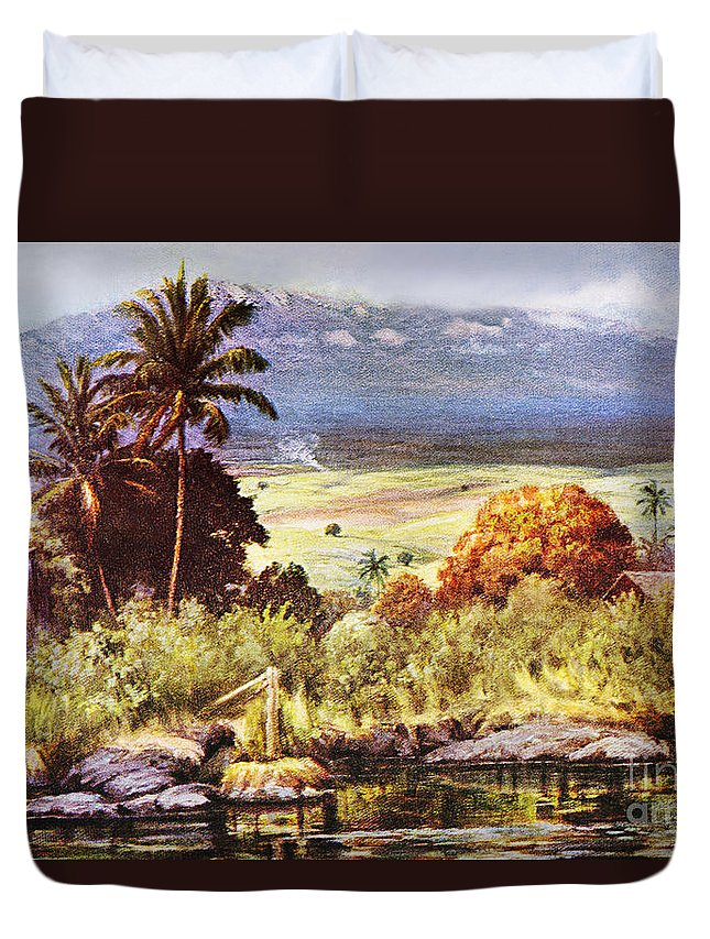 1925 Duvet Cover featuring the painting Helen Dranga Art by Hawaiian Legacy Archive - Printscapes