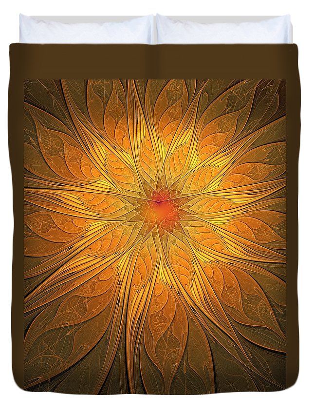 Digital Art Duvet Cover featuring the digital art Helio by Amanda Moore