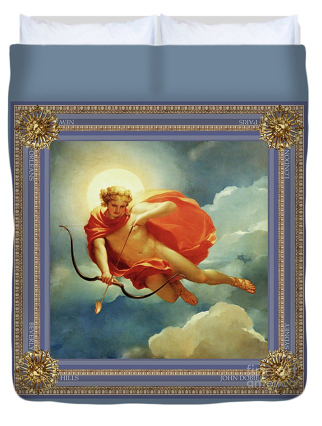 God Duvet Cover Featuring The Painting Helios Sun By John Dobie