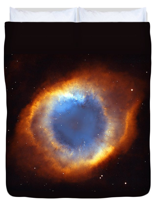 Helix Duvet Cover featuring the photograph Helix Nebula by Ricky Barnard
