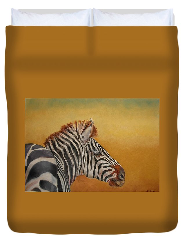 Africa Duvet Cover featuring the painting Hello Africa by Ceci Watson