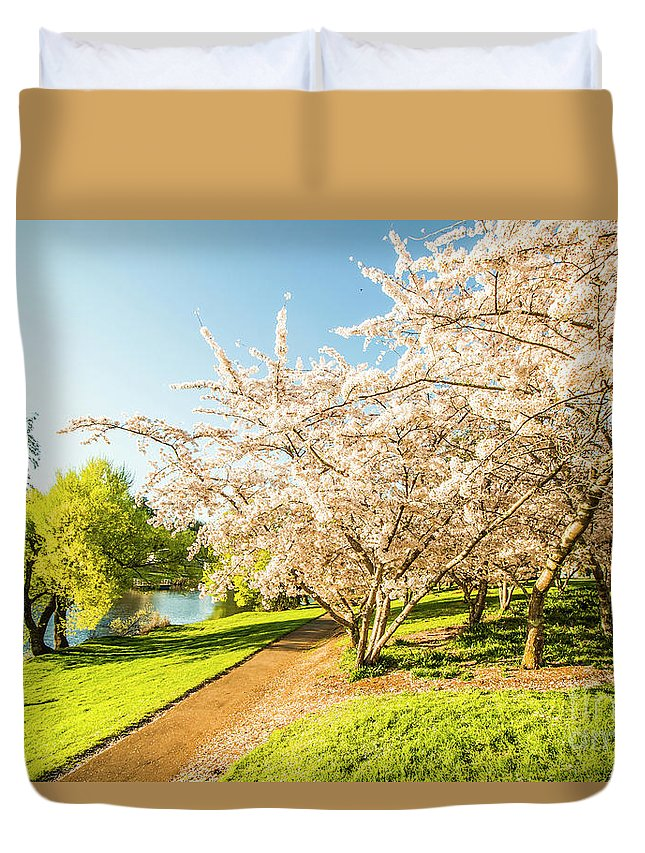 Park Duvet Cover featuring the photograph Hello, I'm In Deloraine by Jorgo Photography - Wall Art Gallery