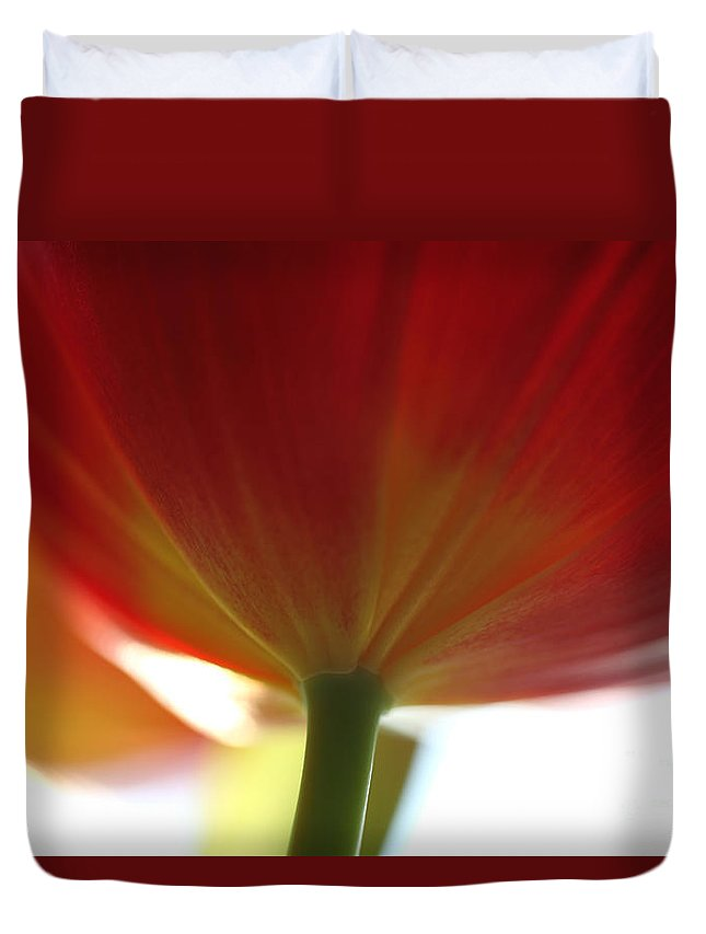 Tulip Duvet Cover featuring the photograph Help Is Here by Amanda Barcon
