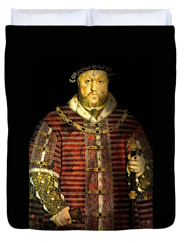 Portrait Duvet Cover featuring the photograph King Henry Viii by Diana Angstadt