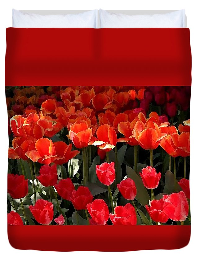 Heralds Of Spring Duvet Cover featuring the painting Heralds Of Spring by Jeelan Clark