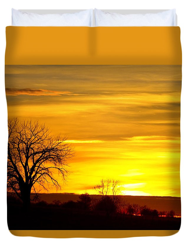 canvas Print Duvet Cover featuring the photograph Here Comes The Sunrise by James BO Insogna