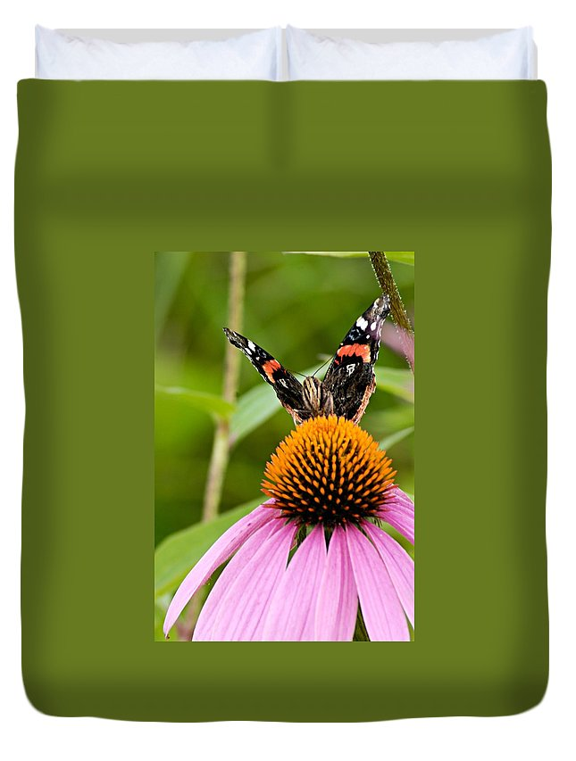 Photography Duvet Cover featuring the photograph Here Is Looking At You by Larry Ricker