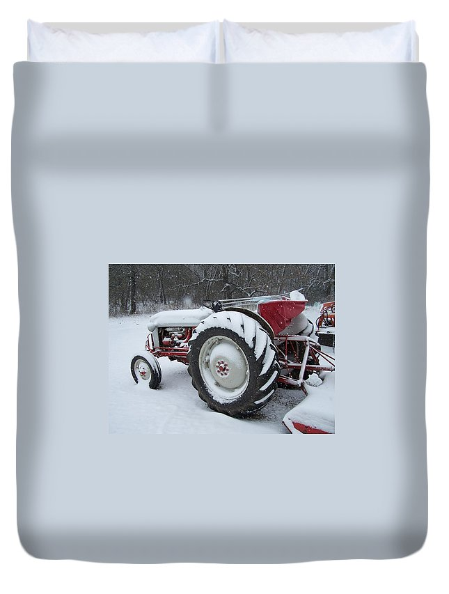 Tractor Duvet Cover featuring the photograph Herman by Gale Cochran-Smith