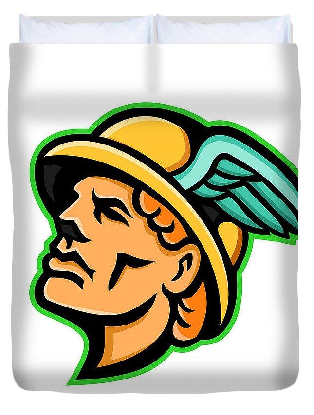 Hermes Greek God Mascot Duvet Cover For Sale By Aloysius Patrimonio
