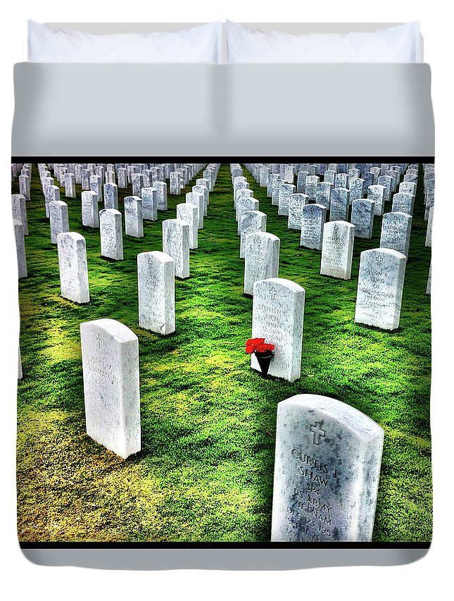 Heroes Duvet Cover featuring the photograph Heroes by Stan Lipski