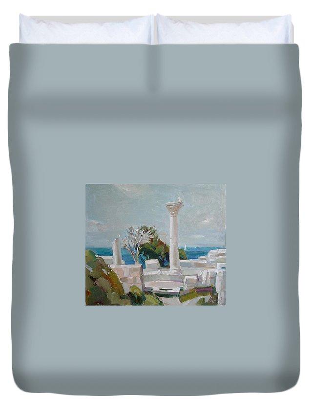 Ignatenko Duvet Cover featuring the painting Hersoness by Sergey Ignatenko