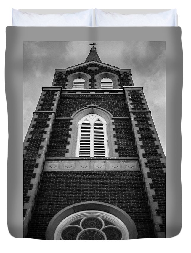 Abbey Duvet Cover featuring the photograph He's Always Watching by Robert Michaud